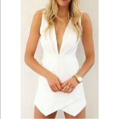White dress from Cupshe Never worn, super cute. Cupshe Dresses Mini