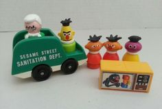 Lot Vintage Fisher Price Sesame Street Little People & Accessories | Toys & Hobbies, Preschool Toys & Pretend Play, Fisher-Price | eBay!