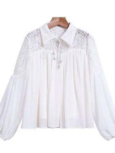 Vaselila Dantelli İpli Gömlek Gömlek, Bluz ve Kazak