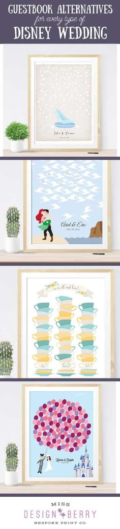 Guest Book Alternatives for each and every Disney Wedding theme... and if they don't have one for your theme they will custom make it! Amazing!!