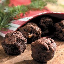 """Soft chocolatey cookies that are shaped while warm to make lumps of """"coal"""" for Christmas stockings(King Arthur Flour) Christmas Cookie Exchange, Christmas Sweets, Christmas Eve, Christmas Coal, Holiday Baking, Christmas Baking, Christmas Kitchen, No Bake Treats, Yummy Treats"""
