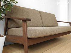 joystyle-interior   Rakuten Global Market: There is three credit sofa SALA-3P-WN ※ washable cloth for design that a full cover ring sofa domestic production sofa wooden sofa back lattice of the frame made by 180cm in width walnut materials walnut pure wood is attractive!