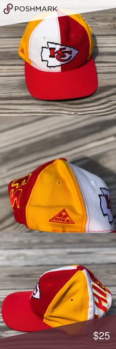 Vintage Kansas City Chiefs Apex Spellout Hat Vintage Kansas City Chiefs  Apex Snapback Hat. This d73deb5769f5