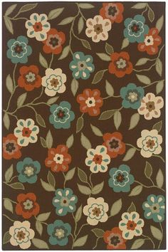 Summertime All-Weather Area Rug - All-weather Area Rugs - Synthetic Rugs - Area…