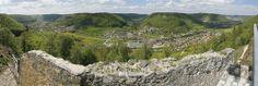 Atemberaubender Blick von der Hiltenburg (Bad Ditzenbach)