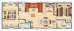 40 m2 családi ház mobilház alaprajz