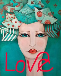 Art Journal Inspiration, Painting Inspiration, Country Paintings, Art Pop, People Art, Ceramic Painting, Woman Painting, Face Art, Art Girl