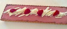 Jordbær-rabarbertærte med ganache - Egeriis kager