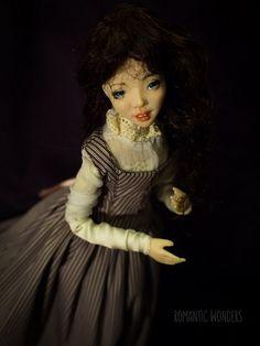 Handmade Ooak doll by Romantic Wonders Silk Dress, Dress Skirt, Ooak Dolls, Cotton Dresses, Corset, Bodice, Wigs, Romantic, Lady