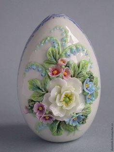 """Пасхальное яйцо """"Весна"""" - букетик нежных цветов - украсит ваш праздник по особому, подарит чудесное настроение в этот благодатный день!"""