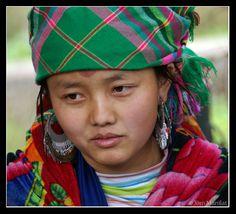 "Hmong woman in Sa Pa, Vietnam  Hmong originally means ""free people"".  (Photo by Jom Manilat)"