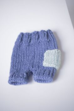 PROPS | Stephanie Resch Photography  Blue hand knit shorts with pocket: Newborn Knit Shorts, Shorts With Pockets, Photography Props, Hand Knitting, Families, Maternity, Gloves, Baby, Photo Accessories