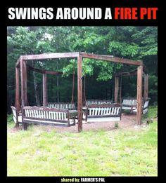 Porchswings n firepits:)