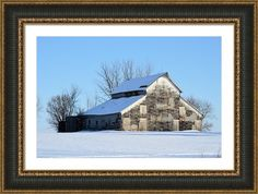 Owasa Barn 2 Framed Print By Bonfire #Photography