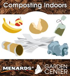 Have you ever wanted to compost but don't know where to start? Here's how you can turn your leftovers into a rich organic matter that your garden will love! http://www.menards.com/main/footer/how-to-center/garden-center/how-to-compost-indoors/c-1446824669409.htm?utm_medium=social&utm_campaign=gardencenter&utm_content=how-to-compost-indoors&cm_mmc=pinterest-_-social-_-gardencenter-_-how-to-compost-indoors