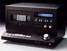 For a short while VHS was considered for Hifi audio...  Vintage Audio Technics SV-P100