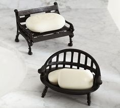 Bench Soap Dishes #potterybarn