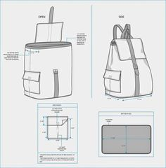 The Spinsterhood Diaries: Sample Fashion Project: Backpack Tech Pack leather belt around Jean Backpack, Diy Backpack, Drawstring Backpack, Mochila Jeans, Backpack Tutorial, Tech Pack, Leather Pattern, Leather Backpack Pattern, Fashion Project