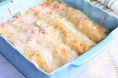 Spicy Creamy Shrimp Enchiladas 1 from willcookforsmiles.com