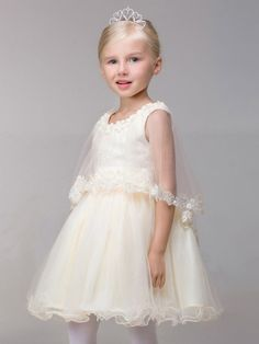 098001809 Shop online short tulle ballroom fairy flower girl dress with lace puffy  jacket for less.