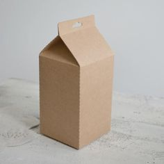 Gorgeous carboard milk carton from Hello Paper - how much fun could be had decorating these for/at birthday party's? Cookie Packaging, Food Packaging, Brand Packaging, Paper Packaging, Images Of Milk, Paper Bag Design, Cardboard Paper, Paper Paper, Kraft Paper