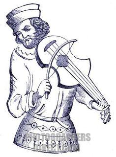 Medieval minstrel playing a vielle , 15th century  http://img1.photographersdirect.com/img/262/wm/pd1847136.jpg