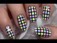 Bunt Karierte Pastell Nägel / Sommer Nageldesign / Colorful Summer Nail ...