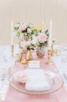 FLOWERS AND EVENT STYLING BY FLEUR COUTURE GOLD LUXURY WEDDING SETTING WITH…