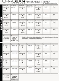 Beachbody Chalean Extreme Worksheets - Worksheets