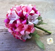 vania passos origami   Buquê de noiva em tons de rosa   Vania Passos - Origami e Paper Art