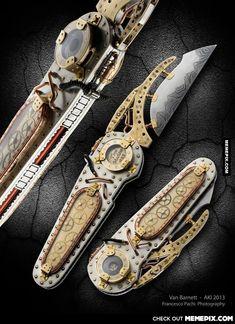 The Time Machine knife by Van Barnett