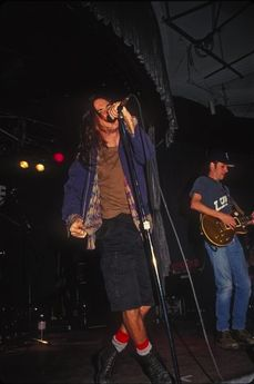 Eddie Vedder- I miss those days at times all grunged out eddie with his real voice!! we rocked!! yes still do but what a difference