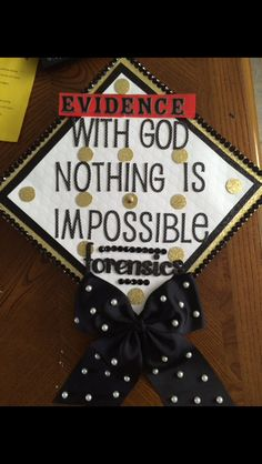 Forensic Science graduation cap with a twist of Christianity Diy Graduation Gifts, Graduation 2016, College Graduation Parties, Graduation Cap Designs, Graduation Cap Decoration, Nursing Graduation, Graduation Pictures, Graduation Caps, Grad Cap