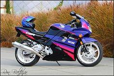 1994 cbr 600f2 purple red and black   1992 Honda CBR600F2 - Gloss Black with Palette Purple
