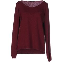 Fred Perry Jumper ($82) ❤ liked on Polyvore featuring tops, sweaters, shirts, jumper, maroon, lightweight shirt, fred perry sweater, long sleeve sweaters, red sweater and fred perry shirt