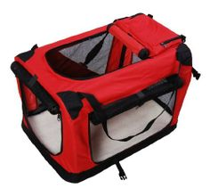 "New Folding Fabric Soft Portable Pet Dog Cat Crate Puppy Kennel Cage Carrier House Medium 23"" Red by Homcom, http://www.amazon.co.uk/dp/B008CD4KKS/ref=cm_sw_r_pi_dp_zrOztb1FDGANM"