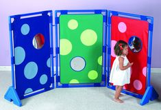 Children's Factory Bubble Fun Play 3 Panel Room Divider, H x W 4 Panel Room Divider, Room Divider Curtain, Preschool Furniture, Kids Furniture, Cubicle Partitions, Childcare Rooms, Bubble Fun, Toddler Table, Kid Furniture