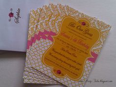 Beauty and the Beast Tea Party Invitation Matching Envelope Any