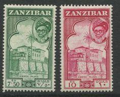 ZANZIBAR-SG-371-372-1957-SULTAN-KALIF-BIN-HARUB