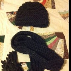 Crocheted hat & scarf