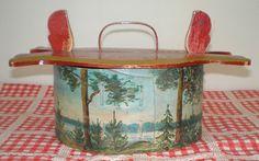 Antique Swedish Painted Tina Tine Box Svepask Leksand 1911 Sweden Folk Art | eBay $99 10/3/12