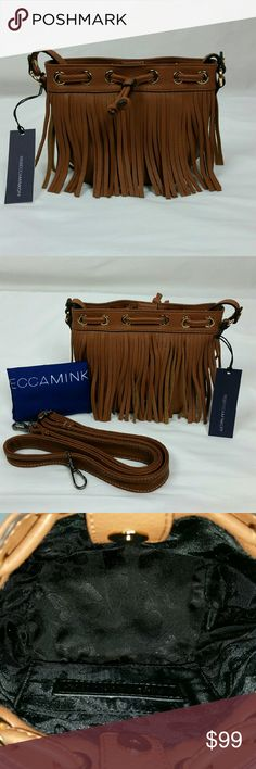 """Rebecca Minkoff Micro Fringed Lexi Bucket Bag Mini-size bucket bag featuring magnetic snap and drawstring closure. Straight-cut fringe all around. 22"""" shoulder drop and a  removable, adjustable cross-body strap. Comes with dustbag.  100% Cowhide Leather.  Lining : man-made materials  Measured as follows on the bottom seam to seam: 5"""" W x 3.5"""" D Measures 8.5"""" W seam to seam at the widest part in the middle. Height is 6""""  NWT  with strap and draw string tassel protection still on.  NO TRADES…"""