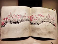 Flores flutuando