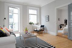 Binnenkijken in twee Zweedse appartementjes / www.woonblog.be