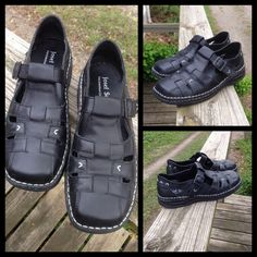 Josef Seibel Fisherman Shoes Like new black fisherman-style shoe. No wear, perfect condition. Leather, rubber outsole, white decorative stitching.I wear size 7 and these are a perfect fit. Josef Seibel Shoes