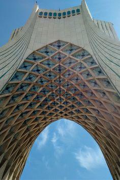 The iconic Azadi Tower in Iran.