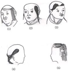 hair styles of ancient china, i'll opt for #2