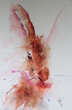 """""""Hare Brained"""" hare in Watercolour #watercolor jd"""