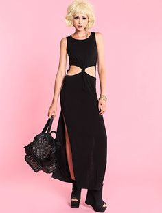 Black Knotted Maxi Dress. Just $28.95