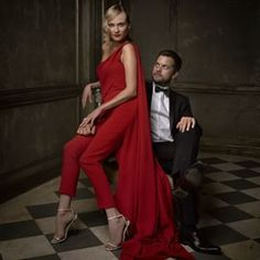 Diane Kruger & Joshua Jackson: | 16 Stunning Portraits From The Vanity Fair Oscar Party
